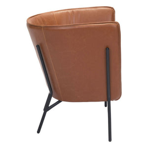 Assange Occasional Chair Coffee & Beige - Fast Ship Furniture