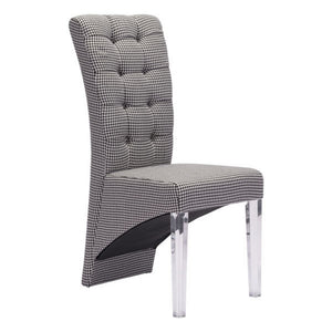 Zuo Waldorf Houndstooth Dining Chair