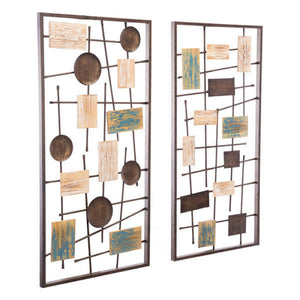 Zuo Modern Abstract Set Of 2 Wall Décor Antique