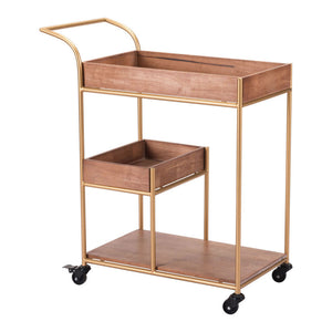 Zuo Modern Bar Cart Brown
