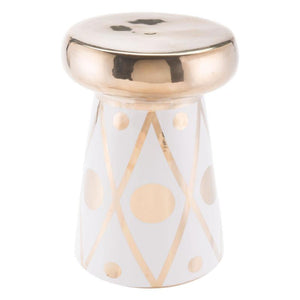 Zuo Modern Dots Garden Seat Stool Gold And White