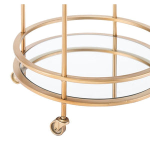 Zuo Modern Round Bar Cart Gold