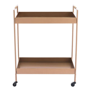 Zuo Modern Gold Bar Cart Gold