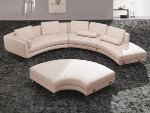 Divani Casa A94 - Contemporary Bonded Leather Sectional Sofa & Ottoman