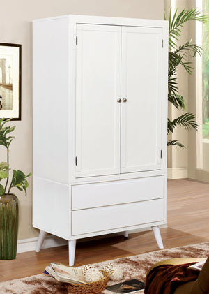 Furniture Of America White Lennart II Armoire