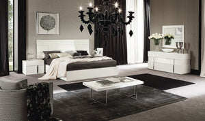 Canova White High Gloss Bed by ALF
