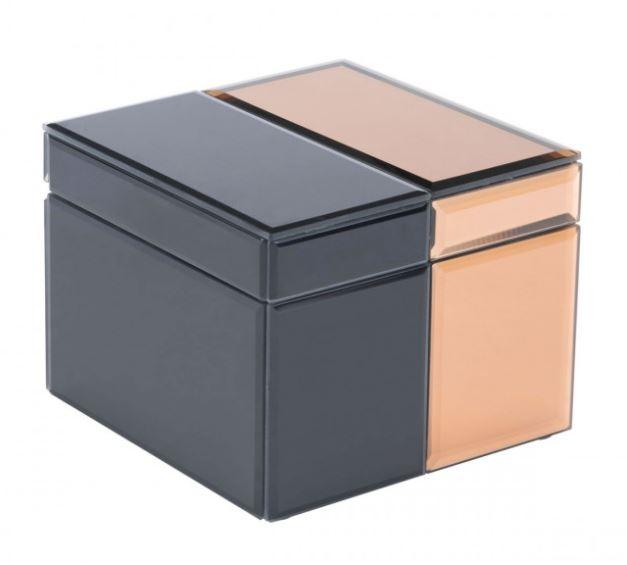 Zuo Modern Bicolor Lg Box Black & Bronze