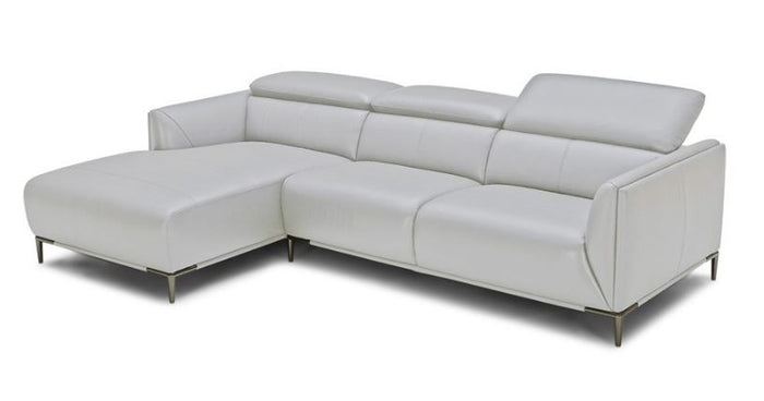 Divani Casa Sansa Modern Grey Leather Sectional Sofa