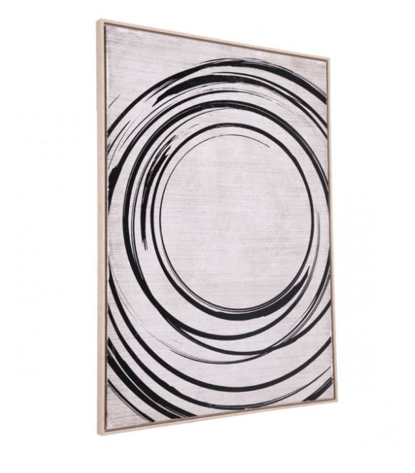 Zuo Modern Anillos Wall Art Canvas Black & Cream