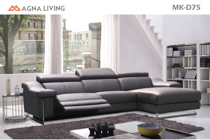 Magna Living D75 Leather Power Reclining 3 Piece Sectional * (CURRENTLY ON FURNITURE SHOWROOM FLOOR)