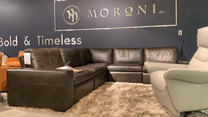 Moroni 591 - Leather Sectional Sofa