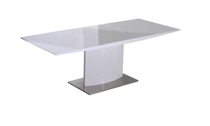 Creative Image White Extendable Dining Table