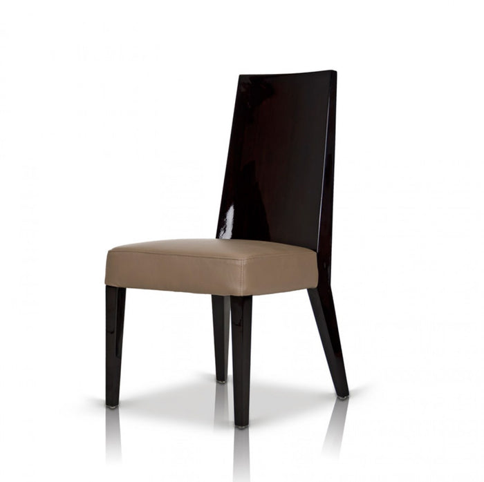 Modrest Noble - Modern Dark Brown Veneer Dining Chair