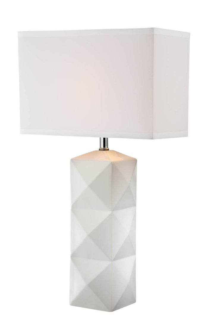 Lite Source LS-22239WHT White Robena 1 Light Table Lamp * (CURRENTLY ON FURNITURE SHOWROOM FLOOR)