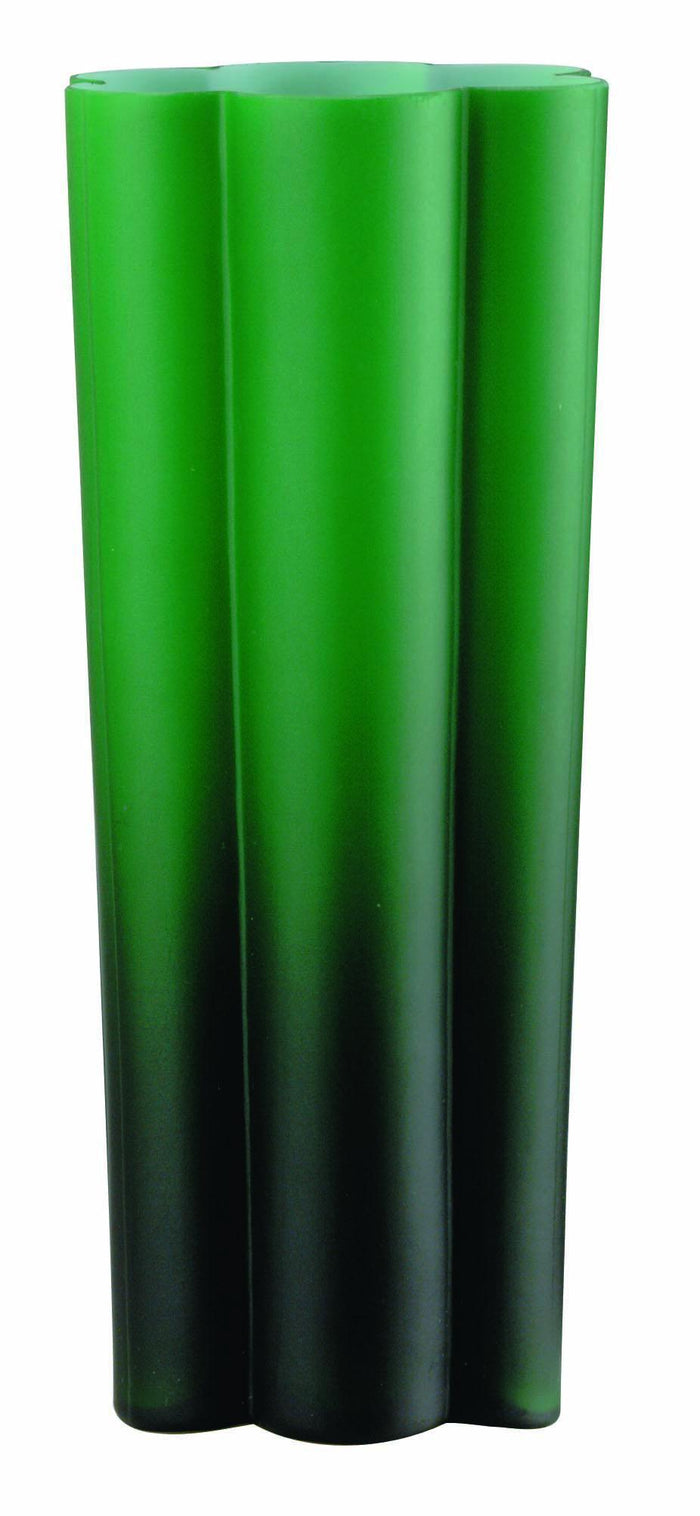 Lite Source LS-3521GRN Green Glass Vase Table Lamp with Glass Shade from the Rainbow Collection * (CURRENTLY ON FURNITURE SHOWROOM FLOOR)