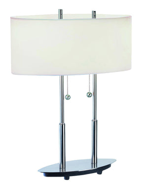 Lite Source LS-3821PS/WHT 3821 Table Lamp * (CURRENTLY ON FURNITURE SHOWROOM FLOOR)