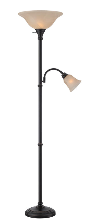 Lite Source LS-82550D/BRZ Torch/reading Floor Lamp * (CURRENTLY ON SHOWROOM FLOOR)