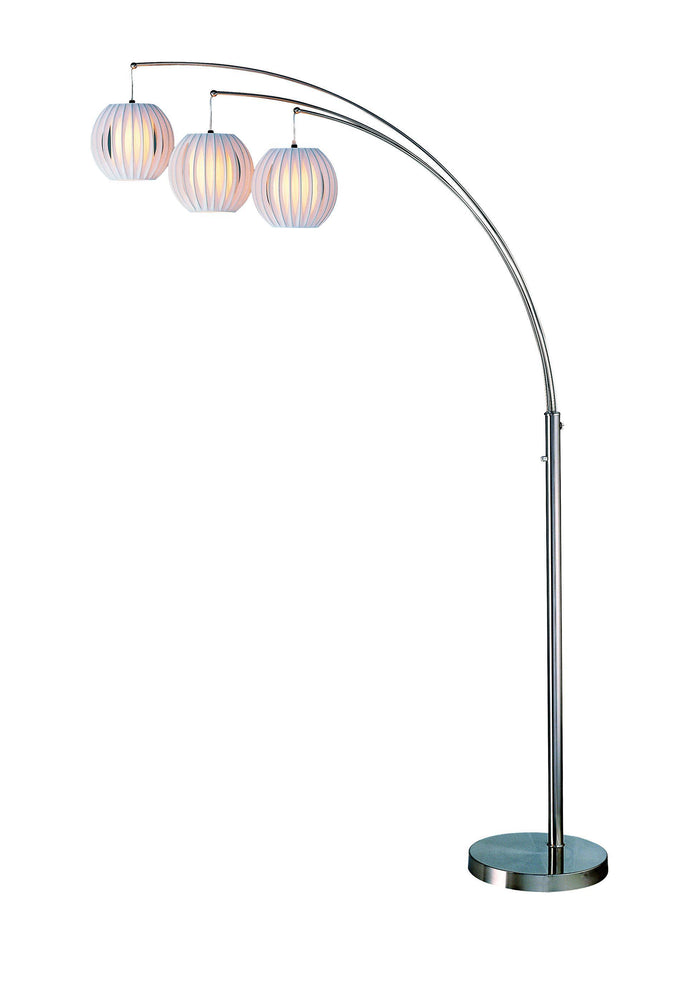 Lite Source LSF-8871PS/WHT Deion Arch Floor Lamp Deion * (CURRENTLY ON FURNITURE SHOWROOM FLOOR)