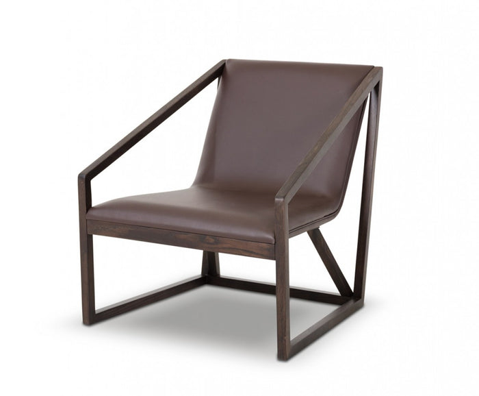 Divani Casa Taranto - Modern Brown Eco-Leather Lounge Chair