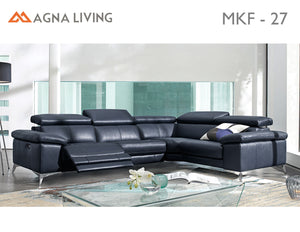 Avalon MKF27 Leather Power Reclining Sectional