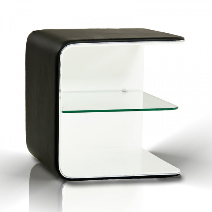 Modrest Spirit - Contemporary Eco-Leather Nightstand