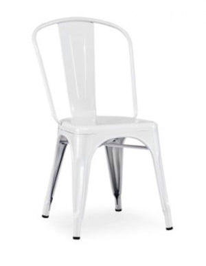Elan - Modern White Metal Side Chair (Set of 4)