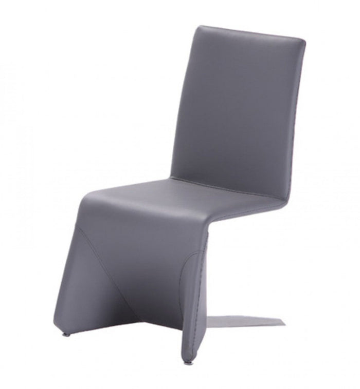 Nisse - Contemporary Grey Leatherette Dining Chair (Set of 2)