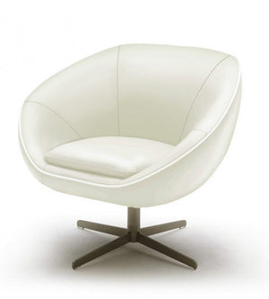 Divani Casa Willow Modern White Bonded Leather Accent Chair