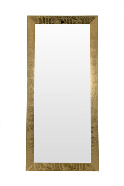 A&X Regal - Modern Gold Crocodile Floor Mirror