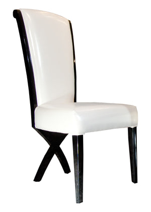 A&X Xena - Transitional X-Leg Dining Side Chair (Set of 2)
