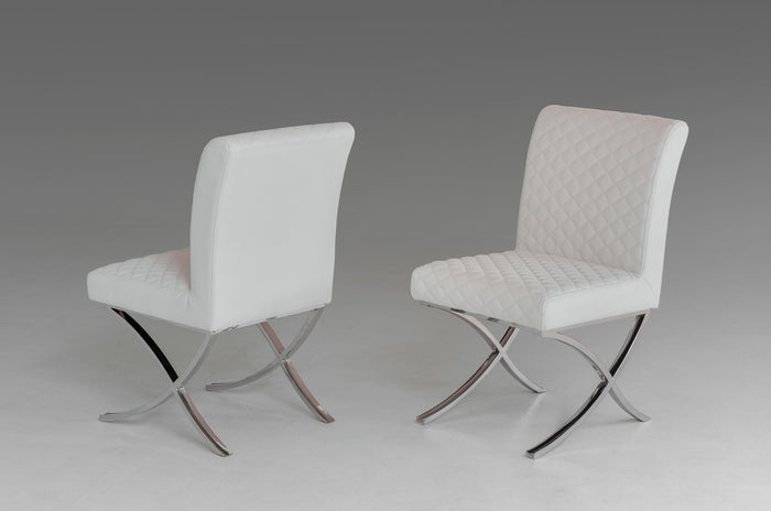Adderley - Modern White Leatherette Dining Chair (Set of 2)