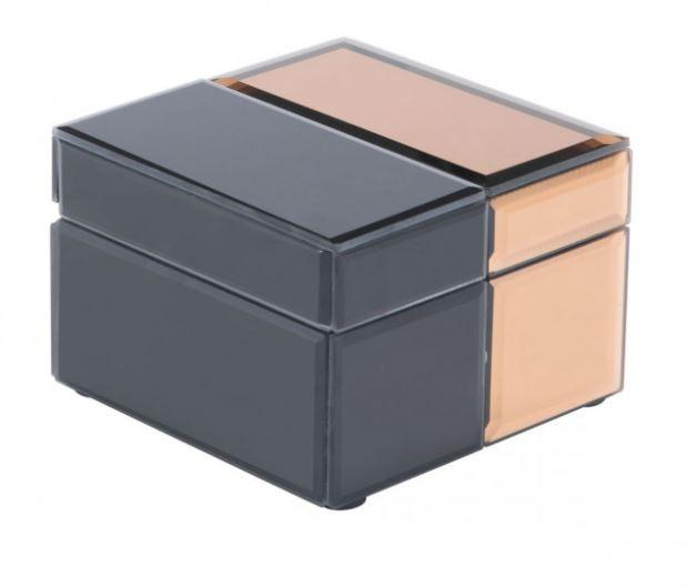 Zuo Modern Bicolor Sm Box Black & Bronze