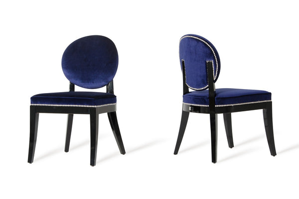 Isabella - Modern Blue Fabric Dining Room Chairs (Set of 2)