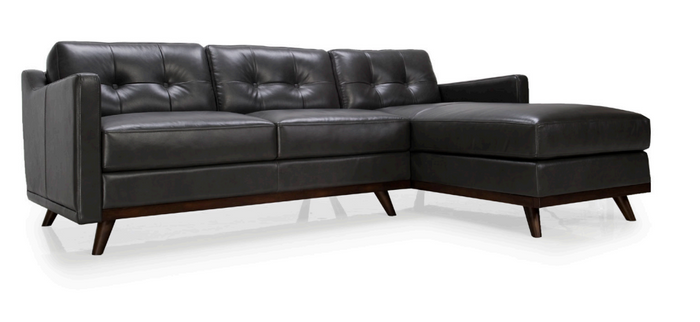 Moroni 359SC Monika Leather 2 Piece Sectional * (CURRENTLY ON FURNITURE SHOWROOM FLOOR)