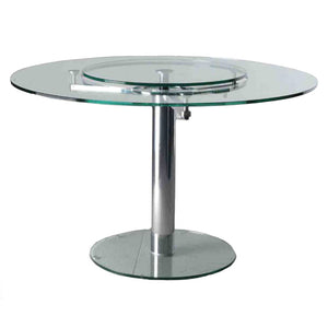 Creative Image T9055 Lazy Susan Glass Dining Table