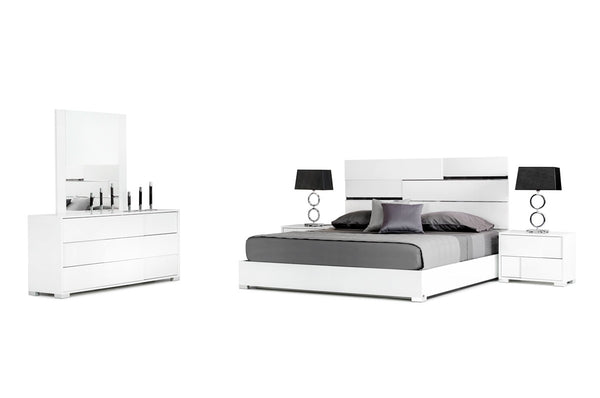 Italian White Lacquer Bedroom Furniture Set - All World Furniture