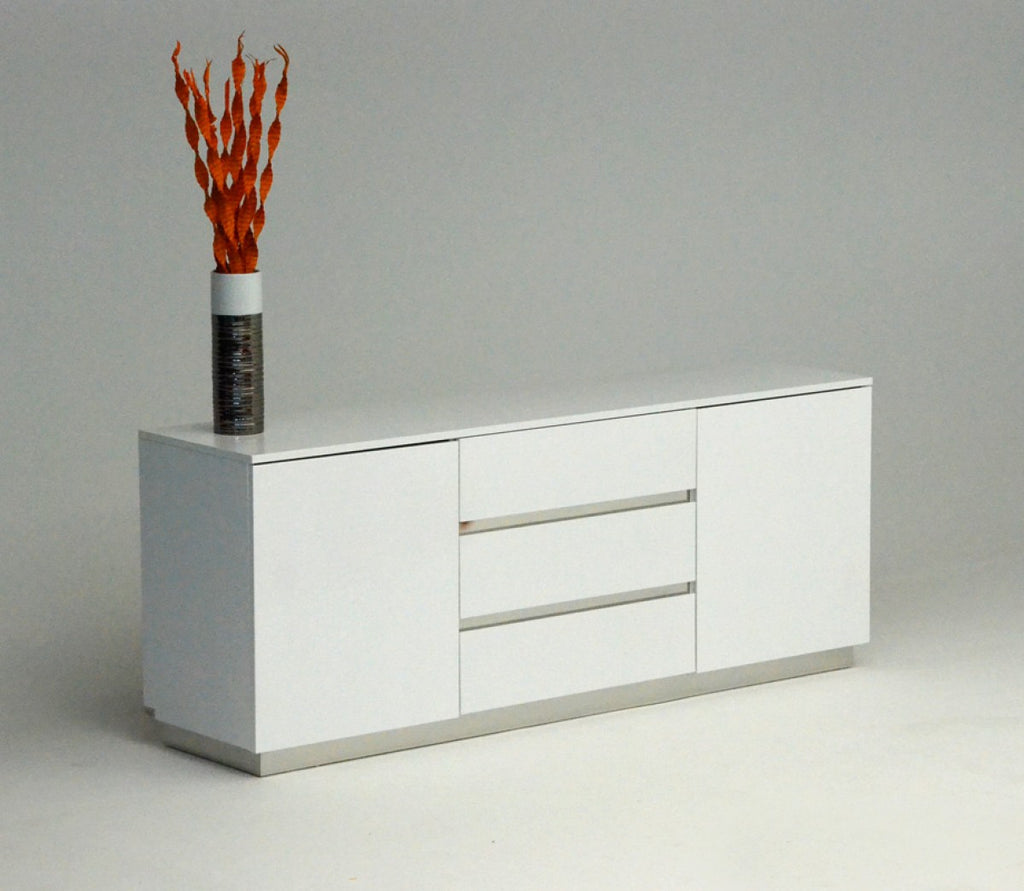White lacquer sideboard buffet