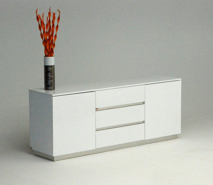 A&X Skyline White Crocodile Lacquer Sideboard Buffet