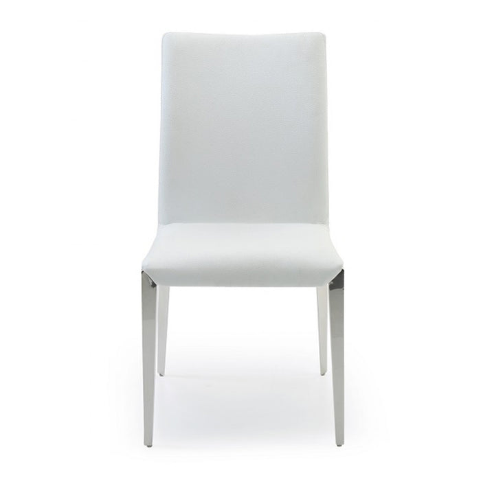 Taryn - Modern White Leatherette Dining Chairs (Set of 2)