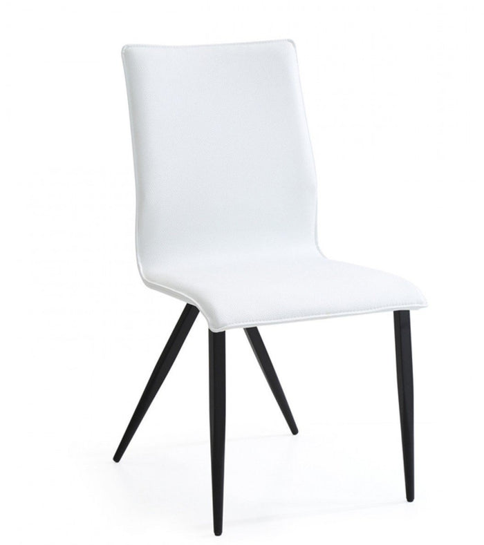 Xyla - Modern White Leatherette Dining Chairs (Set of 2)