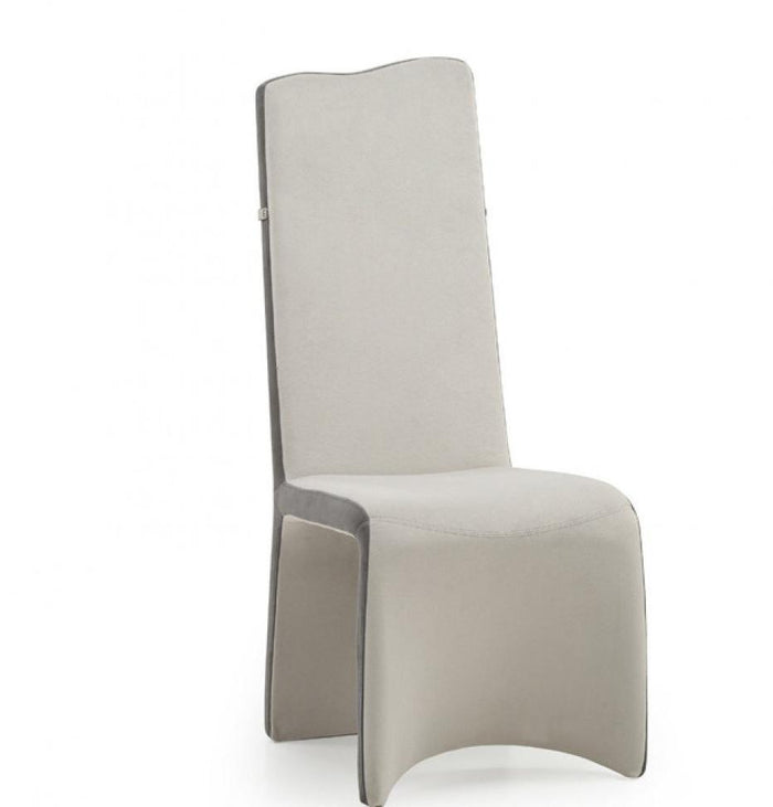 Modrest Sapphire - Modern Beige & Grey Dining Chair Set of 2