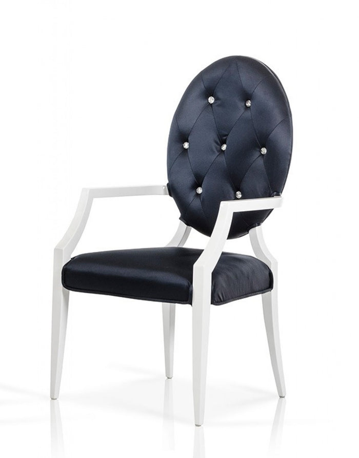 Versus Bella Nodern Black Fabric Dining Chair (Set of 2)