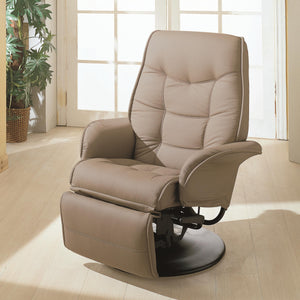 Coaster Furniture Bone Berri Swivel Recliner Chair with Flared Arms