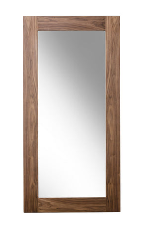 Modrest Beth Modern Walnut Floor Mirror