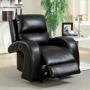 Furniture Of America Black Odette Recliner Chair