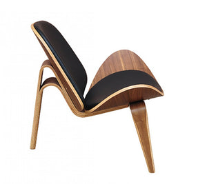 Modrest Warren Modern Black & Walnut Accent Chair * (CURRENTLY ON FURNITURE SHOWROOM FLOOR)