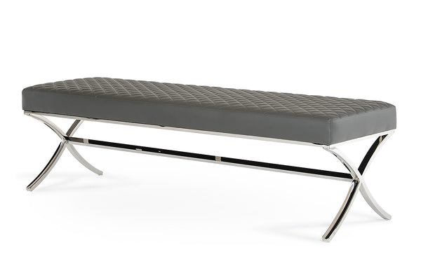 Grey Dining Bench