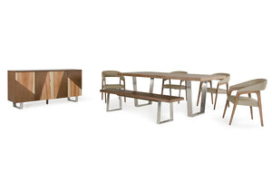 Modrest Byron Modern Walnut Dining Set