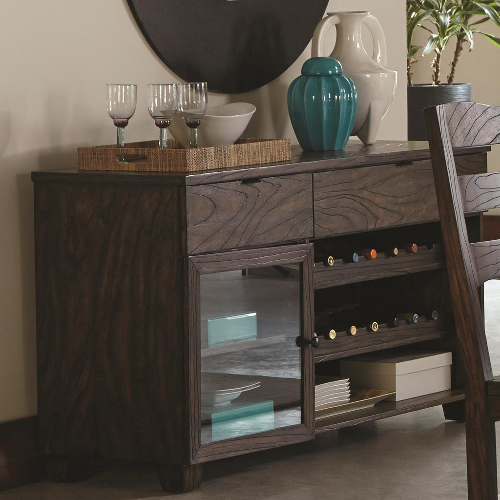Coaster Furniture Calabasas Contemporary Server with Removable Wine Rack