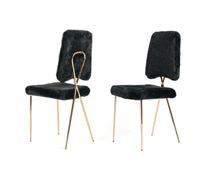 Faux Fur Dining Chairs
